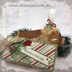 """Blog Hop Verpackung mit Schachtel und Explosionsbox im weihnachtlichen Look mit DP """"Für Weihnachten"""" und Tannenzauber"""