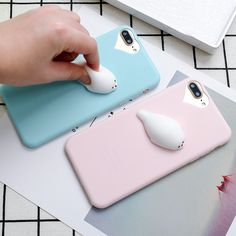 Cheap case for iphone, Buy Quality phone cases directly from China cell phone cases Suppliers: Cute Funny 3D Squishy Toy Fidget Stress Reliever Cell Phone Case For iPhone 7Plus 5 6s Case Slim Candy Soft Silicon Cover Fundas