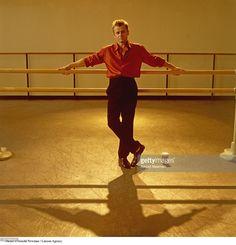 Portrait of ballet dancer Mikhail Baryshnikov at a rehearsal studio in Lincoln Center October 6, 1999 in New York City.