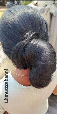 Bun Hairstyles For Long Hair, Braids For Long Hair, Braided Hairstyles, Big Bun, Satin Saree, Longer Hair, Hair Buns, Aesthetic Hair, Beautiful Long Hair
