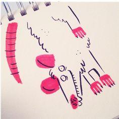 Hang 10 #opossum #doodles #ink #feedtheanimalspdx