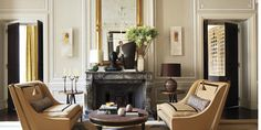 Jean-Louis Deniot shares his best tips for creating interiors that stand the test of time. LIke the detail of the trim on the couches. Living Room Modern, Living Room Sofa, Living Room Interior, Living Area, Living Room Designs, Living Spaces, Living Rooms, French Interior Design, Interior Styling