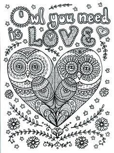 owl you need is Love Poster by Chubby Mermaid on Etsy.com
