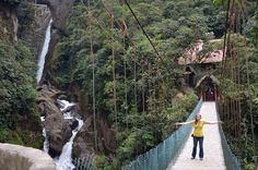 Pailon del Diablo, Baños, Ecuador — by Chelsea Horrocks. #TroveOn After hiking to the top of the falls for an awesome view of the stone staircase, the downhill walk to the...
