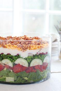 7-Layer Salad  http://www.pauladeen.com/recipes/recipe_view/7-layer_salad/