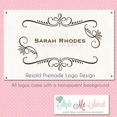 Premade Logo Design Beautiful Swirl Frame By Stylemesweetdesign 3500