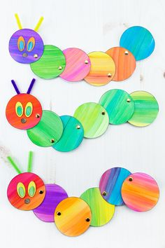 Looking for an easy and fun caterpillar craft for kids? Inspired by The Very Hungry Caterpillar, our simple caterpillar craft includes a printable template, making it perfect for home or school. #caterpillarcrafts #springcrafts #kidscrafts #papercrafts #veryhungrycaterpillarcrafts