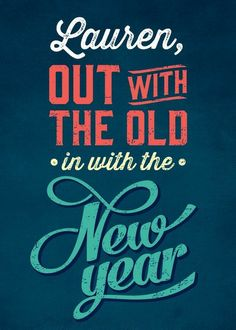Old to New - New Year Greeting Card in Neptune | Magnolia Press