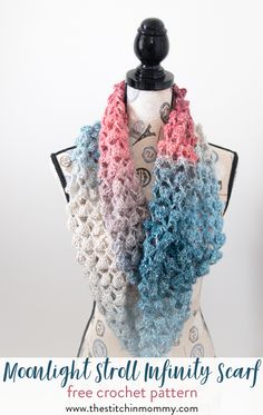 Join us for another month of the 2017 Scarf of the Month Club! I hope you enjoy my September pattern, this light and lacy Moonlight Stroll Infinity Scarf.