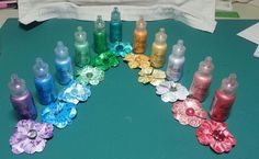 Having fun with Liquid Pearls! I got all these Liquid Pearls and decided to show off these colors! I made a flower every single one and this is what I got! Vivid hues!