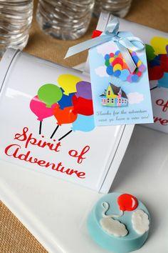 Disney's Up themed birthday party via Kara's Party Ideas: The card