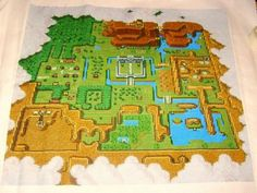 some impressive cross-stitching, video game style