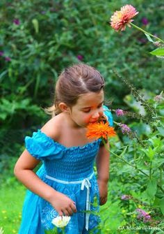 My daughter in the backyard garden... ♥