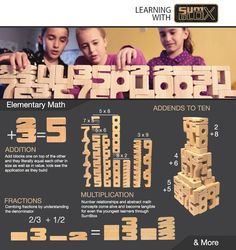 SumBlox Elementary Math:  A small glimpse of the possibilities with SumBlox: a math manipulative, building block set, discovery toy for any child to naturally learn mathematics and it's properties through play!  Addition, multiplication, fractions, and much more become a creative outlet for any type of learner.