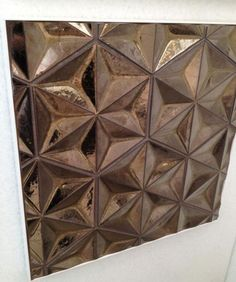Beautiful and unusual: Daniel Ogassian's Japanese Geo tile in metallic bronze for Ann Sacks