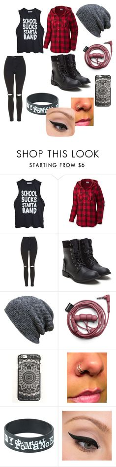 """""""Emo"""" by rileigh-735 ❤ liked on Polyvore featuring High Heels Suicide, Columbia, Topshop and LORAC"""