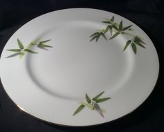 """Narumi SPRING BAMBOO Lot of 4 Dinner Plates Dinnerware Near MINT Condition 10 5/8"""" in diameter by libertyhallgirl on Etsy $24.99 for all 4"""