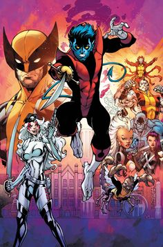 Nightcrawler and the X-Men by Todd Nauck