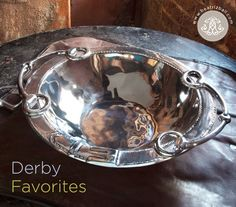 And they're off! Build your next Derby party around the Beatriz Ball WESTERN Equestrian decorative silver bowl. $189.00. Fill its extra large serving area with your favorite greens for a salad to remember. Sophisticated equestrian styling makes this a treasured gift for your favorite rider. Made of a top quality, FDA safe, easy-care, oven and freezer friendly aluminum alloy. Item 6681: 20 x 15 1/2 x 4 1/4