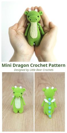 Mini Dragon Amigurumi Crochet Pattern This is a pattern to make this lovely mini dragon! The pattern is easy to read, suitable for beginners and. Dragon En Crochet, Crochet Dragon Pattern, Crochet Amigurumi Free Patterns, Crochet Animal Patterns, Free Crochet Patterns For Beginners, Crochet Projects For Beginners, Crochet Dinosaur Pattern Free, Easy Crochet Animals, Beginner Crochet Projects