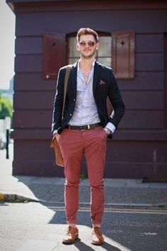Red pants can add a color splash and a colorful twist to your wardrobe. See how you can get some looks to make a red-hot statement with your wardrobe. #MensFashion