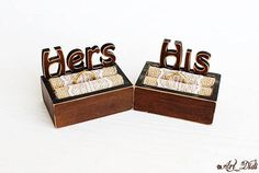 Set wedding boxes - Mr & Mrs, Ring bearer boxes,Rustic wedding boxes Ring boxes Hers and His Rustic wedding box Hers and His boxes Wedding Ring Box, Wedding Boxes, Mrs Ring, Ring Bearer Box, Jewelry Box, Unique Jewelry, Personalised Box, Decoupage, Handmade Gifts