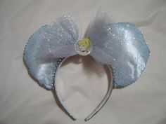 Cinderella inspired Mickey Mouse ears by Glitteratheart on Etsy