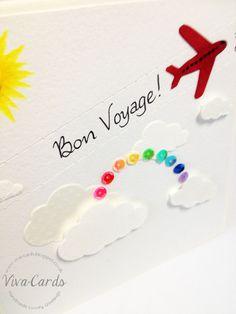 Handmade Card - 'Bon Voyage' - Aeroplane