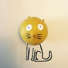 Some sort of lemon cat - Jean Jullien.