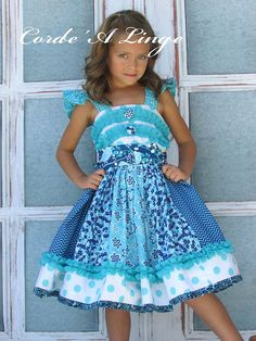Ready to Ship Last One size 6 Girls Dress The by Cordealinge