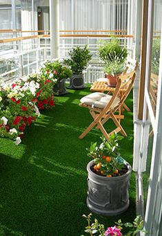 Fully lawned feel with AstroTurf