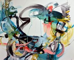 """Saatchi Art Artist: Vicky Barranguet; Acrylic 2015 Painting """"Unparallel Grace II"""" 