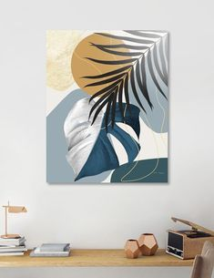 Tropical Home Decor, Tropical Decor, Tropical Furniture, Diy Canvas Art, Modern Canvas Art, Painting Canvas, Large Painting, Wall Paintings, Contemporary Wall Art