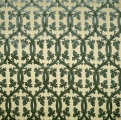 Scalamandre Falk Manor House Aqua on Ivory, $321/yd from $596/yd  SC-26690-004. on Inside Fabric
