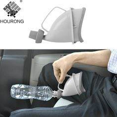 1pc Portable Travel Urinal Car Handle Urine Bottle Urinal Funnel Tube Outdoor Camp Urination Device Stand Up & Pee Toilet