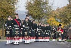 The Argyll and Sutherland Highlanders Regiment parade during the funeral procession of Cpl. Nathan Cirillo in Hamilton, Ont. on Tuesday, October 28, 2014. THE CANADIAN PRESS/Frank Gunn