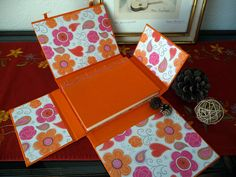 japanese stab binding and four panel box #bookbinding