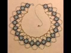 Classic Crystal Necklace Tutorial - YouTube