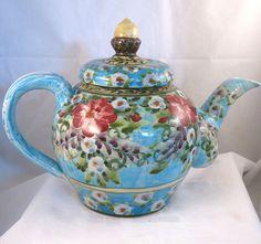 Beautiful Blue Floral Teapot:)