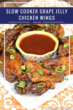 Slow Cooker Grape Jelly Chicken Wings Recipe Appetizers with chili sauce, grape… Slow Cooker Recipes, Crockpot Recipes, Healthy Recipes, Delicious Recipes, Freezer Recipes, Top Recipes, Side Recipes, Meal Recipes, Amazing Recipes