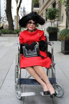 ADVANCED STYLE - Going out swinging.  :-))))