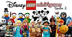 LEGO reveals Disney Collectible Minifigures Series 2 [News] Lego Disney, Disney Duck, Walt Disney, Pixar Movies, Disney Films, Disney Cartoons, Disney Minifigures, Lego Minifigs, Harry Potter Disney