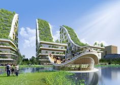 green sustainable architecture biomimetic design vincent callebaut tour and taxi. - marita home Architecture Durable, Futuristic Architecture, Sustainable Architecture, Landscape Architecture, Architecture Design, Sustainable City, Pavilion Architecture, Residential Architecture, Contemporary Architecture