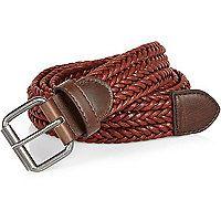 Dark red woven belt