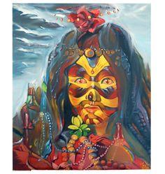 Krolowa wiatru (The queen of the wind), year 2008, 73x92cm.