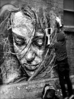 A woman on the wall by David Walker