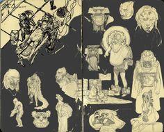 sketchbook page, daniel Chavez on ArtStation at https://www.artstation.com/artwork/sketchbook-page-199391c5-0103-4467-9999-ccf49f1a3cd2