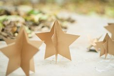 DIY Easy 3D Gold Stars
