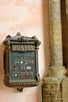quaint old French letterbox