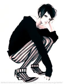 so.. i'm obsessed with stripes and specially black and white ones.. :P I love this illustration btw.. it's perfect